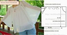 Summer blouses and tops . Discussion on LiveInternet - Russian Online Diaries Service Sewing Patterns Free, Sewing Tutorials, Clothing Patterns, Sewing Blouses, Diy Tops, Dress Making Patterns, Diy Clothing, Sewing Techniques, Top Pattern