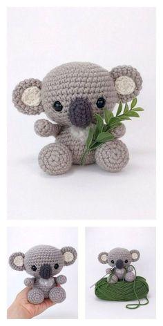 Crochet Simple, Crochet Diy, Crochet Amigurumi Free Patterns, Crochet Animal Patterns, Stuffed Animal Patterns, Crochet Crafts, Crochet Dolls, Crochet Projects, Easy Crochet Animals
