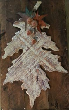 woodland fall leaf door hanger by whitepinecrafters on Etsy, $48.00