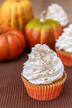 Pumpkin Pie Cupcakes With Cinnamon Whipped Frosting Recipe
