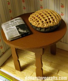 This website has directions on how to make a miniature cherry pie for a Dollhouse.