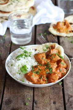 Easy Healthier Crockpot Butter Chicken - Super easy, throw everything in crockpot, house smells amazing, done when you get home meal! @halfbakedharvest.com