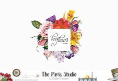 OOAK Vintage Floral Logo Florist Branding Flower Logo Design Photography Logo Business
