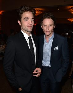 Pin for Later: 25 Pictures of Hot British Actors Being Hot Together  Robert and Eddie posed together at the HFPA Banquet in August 2014.