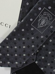 6be2f140b378 Gucci Tie Gray Silver Dots - Tie Deals #gucci #guccimen #guccitie Gucci  Online