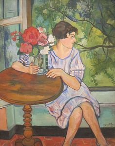 Young Girl in Front of a Window by Suzanne Valadon, San Diego Museum of Art - Suzanne Valadon - Wikipedia, the free encyclopedia