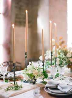 Gorgeous candle-lit table: http://www.stylemepretty.com/2015/06/18/elegant-mexico-wedding-inspiration/ | Photography: Jose Villa - http://josevilla.com/