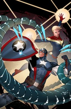 """paulrenaud: """"  CAPTAIN AMERICA: STEVE ROGERS #6 NICK SPENCER (W) • JAVIER PIñA (A) Cover by Paul Renaud DEFENDERS VARIANT COVER BY TBA PROSTATE AWARENESS MONTH VARIANT COVER BY TBA CIVIL WAR II TIE-IN! • With the Marvel Universe at war, Steve fights..."""