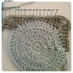 Crochet Retro Circles in Square -Tutorial