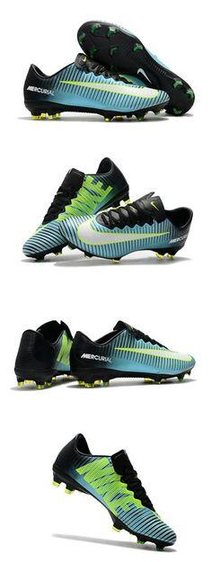 Mens Nike Mercurial Vapor 11 FG Football Shoes - Blue Green Black