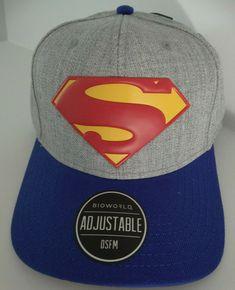 quality design 4d038 76faf Superman Rebirth Logo Dc Comics Pre Curved Snapback Hat Nwt  DCComics   BaseballCap