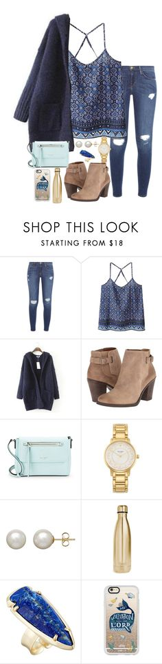 """Untitled #264"" by valerienwashington ❤ liked on Polyvore featuring Frame, WithChic, JVL, Lucky Brand, Kate Spade, Honora, S'well, Kendra Scott and Casetify"