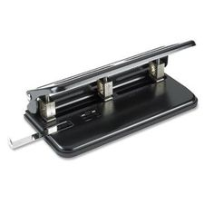 Business Source Heavy-duty Punch, 3-Hole, 30 Sheet Capacity, Black