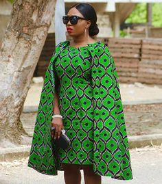 African Clothing/ African Print Cape Dress/ African Dress/ Handmade/ Ankara/ Midi Dress/ African Fashion/ African style/Custom made to order African Dresses For Women, African Print Dresses, African Attire, African Wear, African Fashion Dresses, African Prints, African Women, African Style, Ankara Fashion