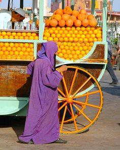 Juice vendor Morocco