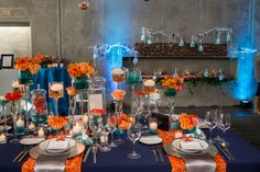 Fresh tropical wedding from Taylor'd Events Group during Weddings in Woodinville 2014 at Novelty Hill-Januik Winery. Amelia Soper Photography; Fena Flowers. #tropicalwedding #tablesettings #aquawedding #winerywedding