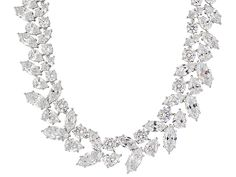 Charles Winston For Bella Luce (R) 187.54ctw Rhodium Plated Silver Necklace