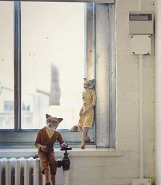 HandCrafted In Virginia --- Wes Anderson --- Foxes --- So cool that these were made with someones hands!