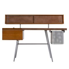 Early George Nelson for Herman Miller Home Desk, 1946 Home Desk, Home Office Furniture, Furniture Storage, Interior Design Gallery, Modern Interior Design, Photo Decoration Ideas, Furniture Design Images, George Nelson, Prefab Container Homes