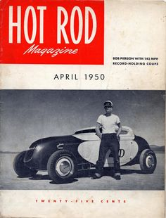 Cool Vintage Hot Rod Magazine Covers : 1950
