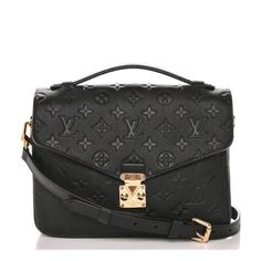 This is an authentic LOUIS VUITTON Empreinte Pochette Metis in Noir Black. This stylish shoulder bag is finely crafted of classic monogram empreinte leather in… Luxury Purses, Luxury Bags, Luxury Handbags, Fashion Handbags, Fashion Bags, Cheap Handbags, Cheap Purses, Cheap Bags, Designer Handbags