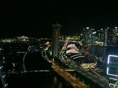 #night #Singapore #flyer