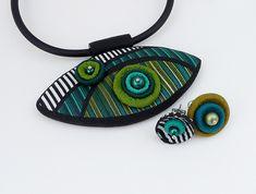 Nice Polymer clay jewellery by Eva Hašková, Czech Republic