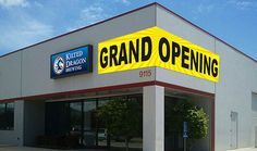 Tell the world about your new business with #GrandOpening #Banners & #Signs Grand Opening Banner, Outdoor Vinyl Banners, Pvc Banner, Banner Printing, Shop Signs, Printing Services, Business, Art Work, Centre