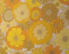 Vintage floral fabric FQ. via Etsy.