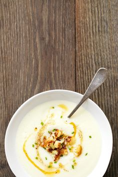 Creamy Cauliflower Soup with Brown Butter