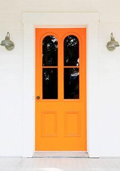 Portas Coloridas - Laranja!