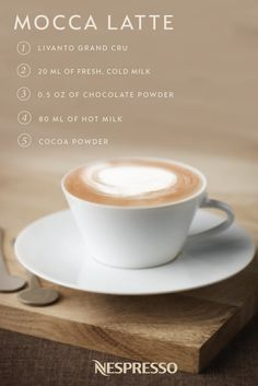 Take it back to the basics with this easy recipe for Mocca Latte. Combine Livanto Grand Cru, milk, and chocolate to create a classic coffee indulgence that you'll want to enjoy again and again. Prepare this elegant drink on slow and sleepy mornings for the ultimate way to enjoy your daily Nespresso moment.