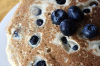 There are Dairy-Free Blueberry Pancakes and there are Dairy-Free Blueberry Pancakes! This Dairy Free Blueberry Pancakes Recipe is egg-free, vegan and makes delicious dairy-free blueberry pancakes. Tofu Breakfast, Vegan Breakfast Recipes, Breakfast Ideas, Vegan Recipes, Blueberry Pancakes, Vegan Blueberry, Recipes Using Tofu, Dairy Free Milk, Lactose Free