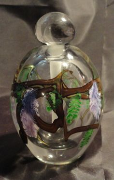 1989 ZELLIQUE STUDIO Perfume Bottle Floral Signed