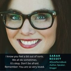 "A conversation with Sarah Bessey, author of ""Out of Sorts,"" and ""Jesus Feminist. Thursday Night, Dont Be Afraid, Its Okay, Sorting, Good People, Knowing You, Conversation, Interview, How Are You Feeling"