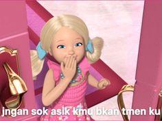 Funny Disney Jokes, Cute Jokes, Cartoon Jokes, Barbie Jokes, Barbie Funny, Memes Funny Faces, Stupid Memes, Cheesy Quotes, Meme Stickers