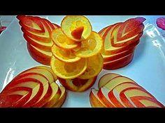 Украшения из яблока и апельсина. Как красиво оформить стол. Decorations of fruits