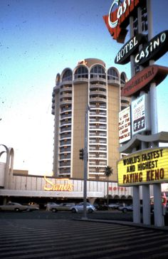 Snapshot: the Sands, Las Vegas Strip as seen from across the street in the Castaways parking lot, c. late 1960s From the opposite point of view  this photo by the great William Eggleston