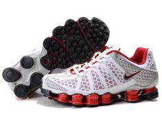 Men's Nike Shox Tl3 Shoes White&red