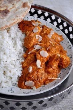 """Je suis une grande fan de la cuisine Indienne, et je raffole de tous les plats à base de Garam Massala, plus particulièrement du """"Butter Chicken"""" que je commande systématiquement lorsque nous nous rendons dans un restaurant Indien.. Voici la recette de..."""