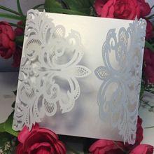 20 unids/pack tarjeta de invitación de boda tarjetas románticas delicado patrón tallado invitaciones de boda fuentes del partido(China (Mainland))