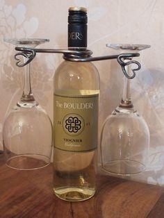 Hand Forged heart Design Wine Glass Holder £24.95