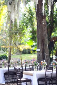 Lovely outdoor tables. Intimateweddings.com