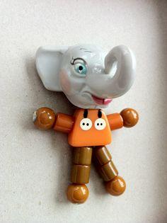 Vintage Bakelite Elephant Crib Toy