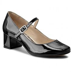 Półbuty CLARKS - Chinaberry Pop 261136654 Black Patent