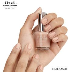 Indie Oasis is a gorgeous nude that gives your clients' nails a fabulously natural look. Natural Looks, Pedicure, Oasis, Indie, Nail Polish, Nail Art, Beauty, Fashion, Beleza