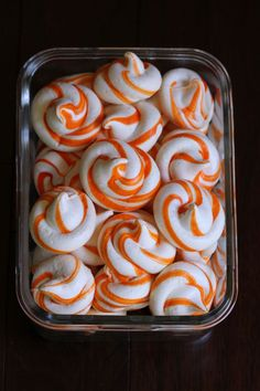 Creamsicle Meringues — playin with my food