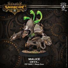 Malice #WARMACHINE #Cryx #PrivateerPress #warjack #miniatures #wargames #steampunk