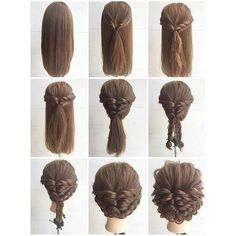 Fashionable Braid Hairstyle for Shoulder Length Hair ❤ liked on Polyvore featuring accessories, hair accessories, short hair accessories and long hair accessories