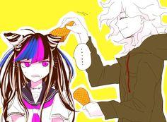 Ibuki Mioda || Komaeda Nagito || Super DanganRonpa 2